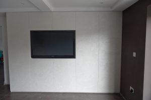 Wandkasten met perlata beschilderd en ingebouwd | Banfield Landscaping